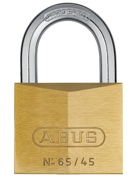 Abus 65-45KD Padlock Brass - Keyed Different