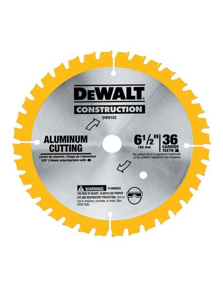 "Dewalt DW9152 Metal Aluminum Cutting Sawblade 6 1/2"" 36T"