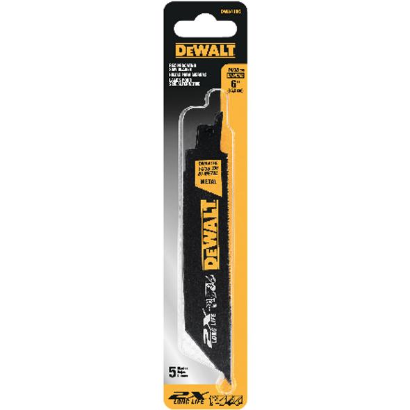 "Dewalt Metal Cutting Reciprocating Blade 6""-14/18T"