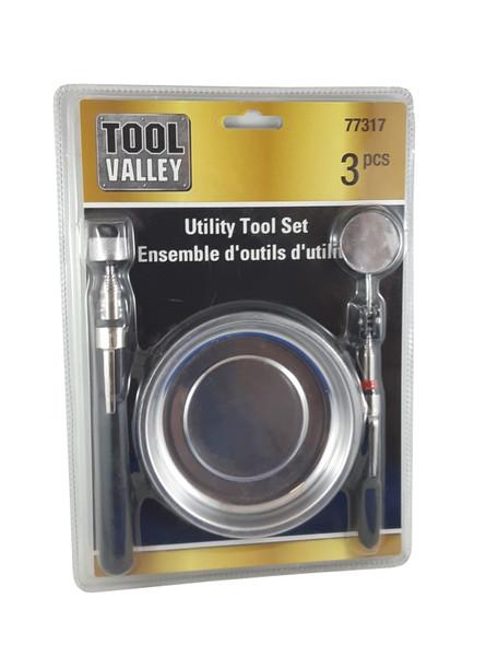 Dynaline 77317 Magnetic Utility Pick Up Tool Set - 3 PCS