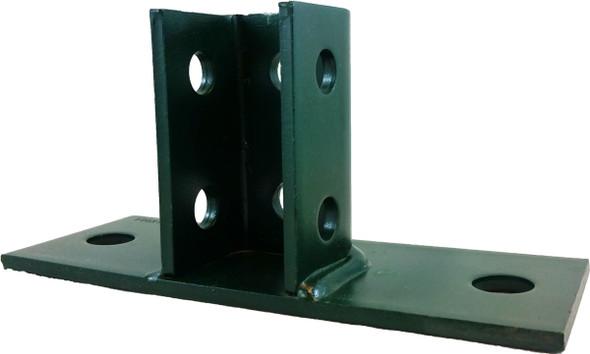 B-LINE B280FL-GRN, Post Base 1 5/8 inch X 1 5/8 inch Channel-Green
