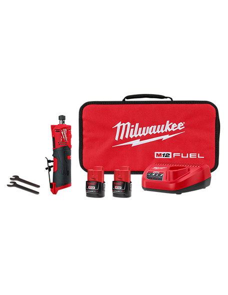 "Milwaukee 2486-22 M12 FUEL 1/4"" Straight Die Grinder - Kit"