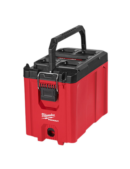 The PACKOUT Compact tool box is constructed with impact-resistant polymers and features a 75lbs weight capacity.