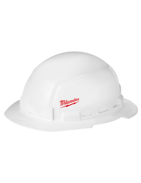 Milwaukee 48-73-1031 FULL Un-vented Brim Hard Hat with BOLT Accessory System – Type 1 Class E (Small Logo)