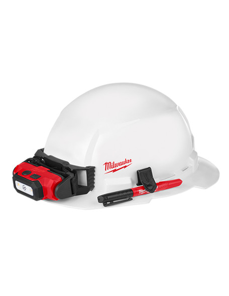 FULL Un-vented Brim Hard Hat with BOLT Accessory System – Type 1 Class E (Small Logo)