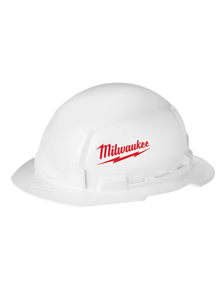 Milwaukee 48-73-1030 FULL Un-vented Brim Hard Hat with BOLT Accessory System – Type 1 Class E (Large Logo)
