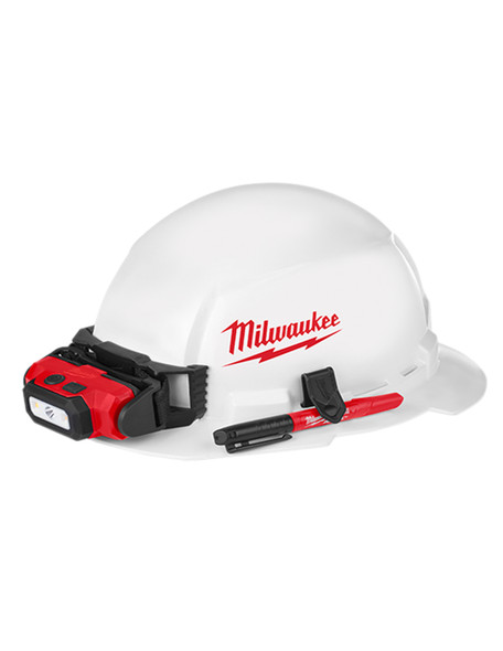 FULL Un-vented Brim Hard Hat with BOLT Accessory System – Type 1 Class E (Large Logo)