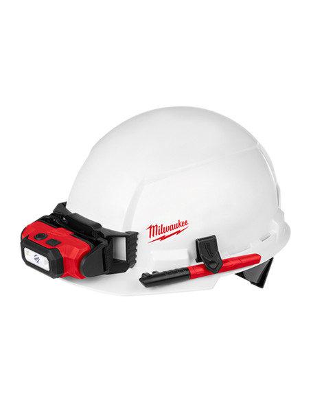 Milwaukee 48-73-1021 FRONT Un-vented Brim Hard Hat with BOLT Accessory System – Type 1 Class E (Small Logo)