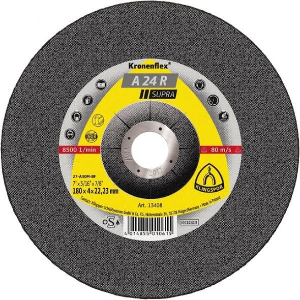 "Klingspor 13738 5"" x 3/32"" x 7/8"" Kronenflex Grinding Discs"