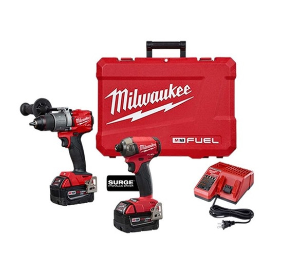 Milwaukee 2999-22 M18 Fuel Hammer Drill / Hex Driver 2-Tool Combo Kit