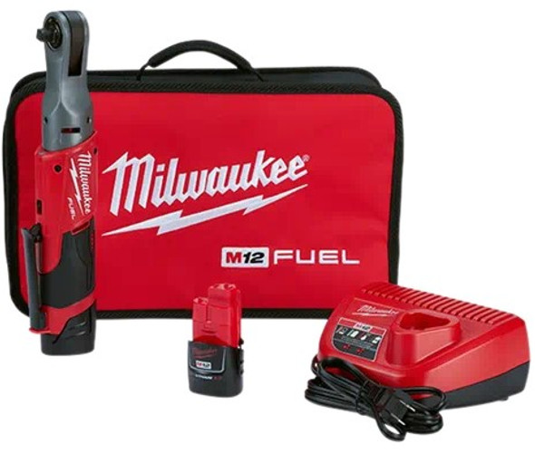 "Milwaukee 2557-22 M12 Fuel 3/8"" Ratchet - 2 battery kit"
