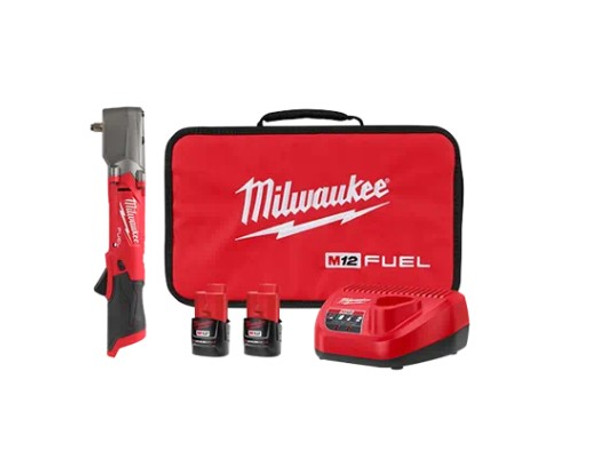 """Milwaukee M12 Fuel 3/8"""" Right Angle Impact Wrench with Friction Ring Kit"""