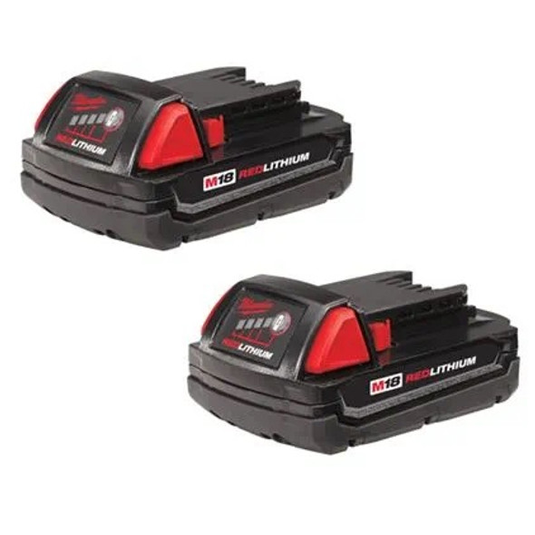 Milwaukee 48-11-1811 M18 REDLITHIUM Compact Battery Two Pack