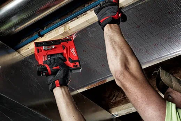 Milwaukee M12 stapler is light and easy to use.