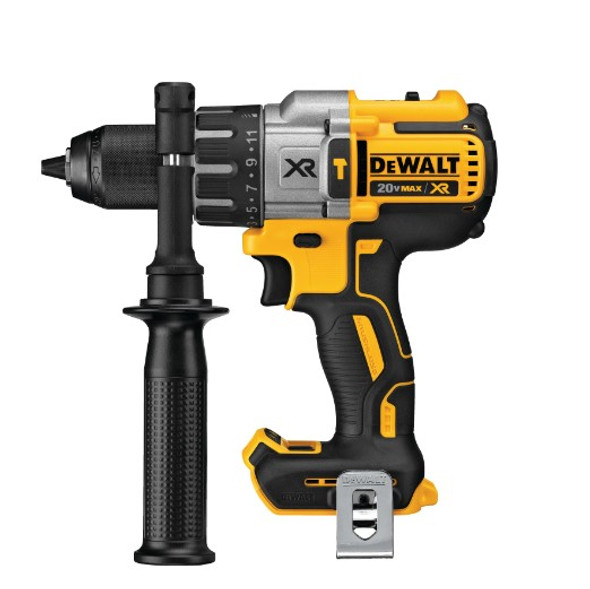 Brushless Cordless 3-Speed Hammer Drill/Driver with attached 360° side handle