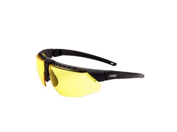 Honeywell Uvex Avatar Protective Eyewear - Black Frame, Amber Lens