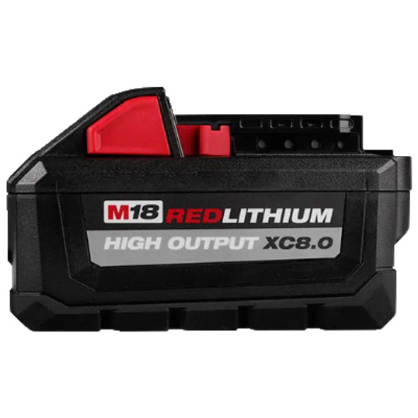 M18 REDLITHIUM XC8.0 Battery (Side view)