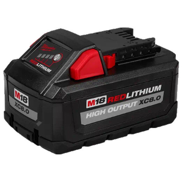 M18 REDLITHIUM XC8.0 Battery (Front & Side view)