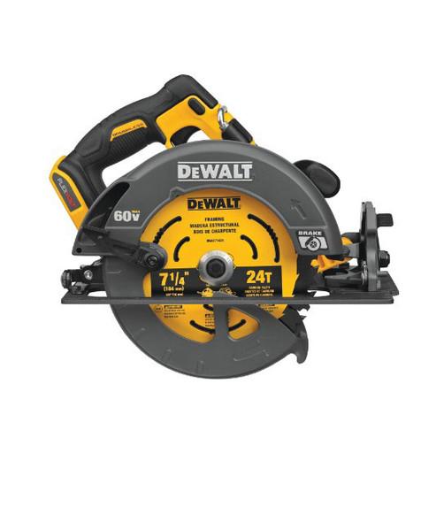 "DCS578B Dewalt Flexvolt 60V Max Brushless 7-1/4"" Cordless Circular Saw with Brake"