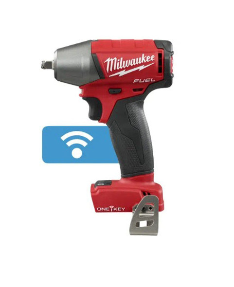 "Milwaukee M18 Fuel with ONE-KEY 3/8"" Compact Impact Wrench with Friction Ring"
