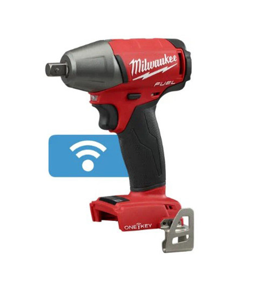 "Milwaukee M18 Fuel with ONE-KEY 1/2"" Compact Impact Wrench with Pin Detent"