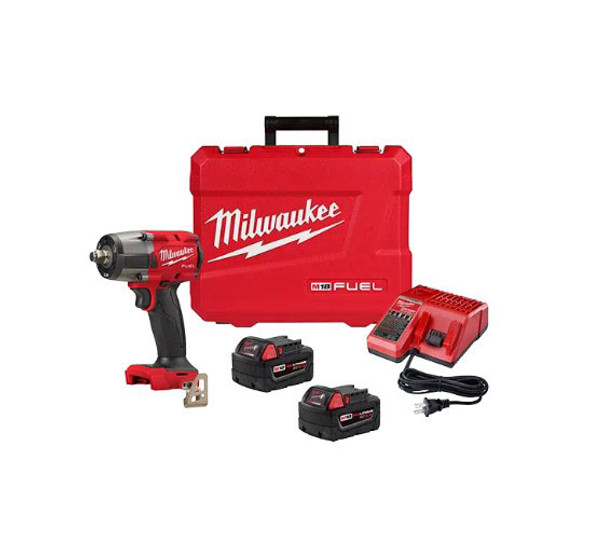 "Milwaukee M18 Fuel 1/2"" Mid-Torque Impact Wrench with Friction Ring Kit"