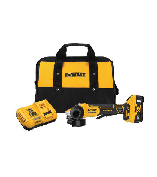 "Dewalt 20V MAX XR Brushless 4 1/2"" - 5"" Angle Grinder with Power Detect Tool Technology Kit"