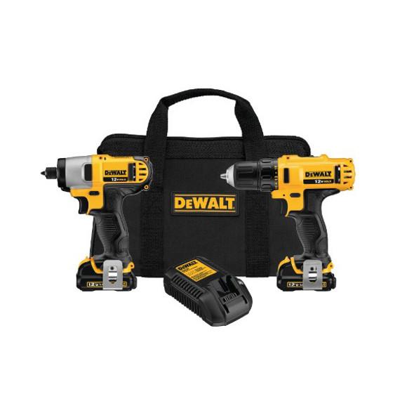 Dewalt 12V MAX Cordless Li-ion Drill/Driver & Impact Driver Combo Kit