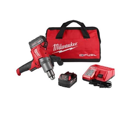 Milwaukee M18 Fuel Mud Mixer with 180° Handle Kit