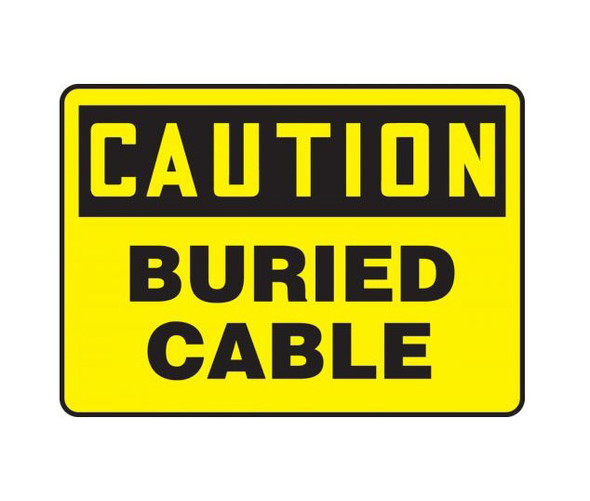 Accuform OSHA Caution Safety Sign : Buried Cable