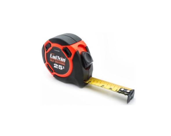 "1"" x 25' Hi-Viz Orange Self-Centering Yellow Clad Tape Measure"