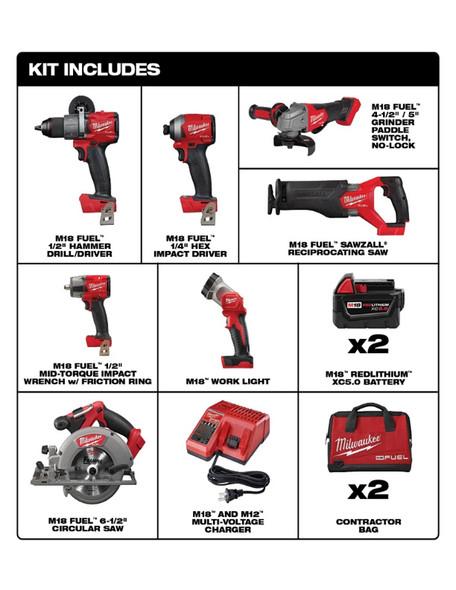 2998-27 M18 Fuel 7-Tool Combo Kit