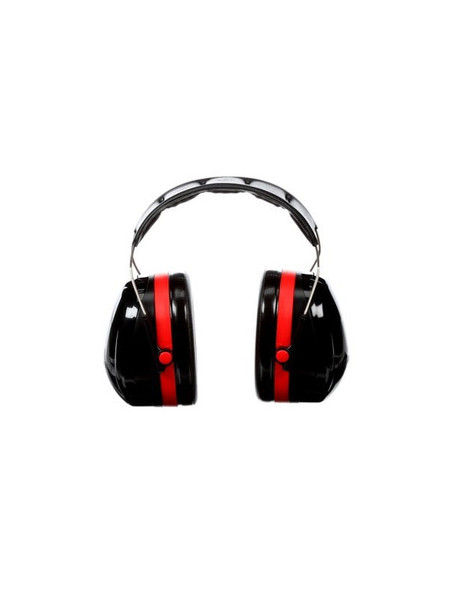 Soft, liquid, and foam filled earmuffs fit comfortably against the head to provide an effective noise blocking seal.