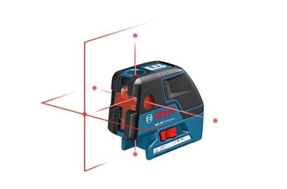 Bosch GCL 25 Five-Point Self-Leveling Alignment Laser with Cross-Line