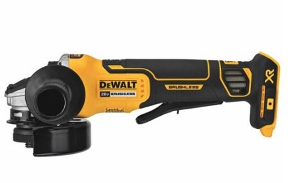 "Dewalt 4.5"" 20V MAX XR Brushless Paddle Switch Small Angle Grinder with Kickback Brake"