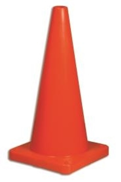 "North 1617/285C Hi-Viz Traffic Cone 28"" LDPE With #5 Base and Bright Cone Collar"