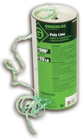 Greenlee 430-500 Poly Line Twine, Spiral Wrap 500 feet
