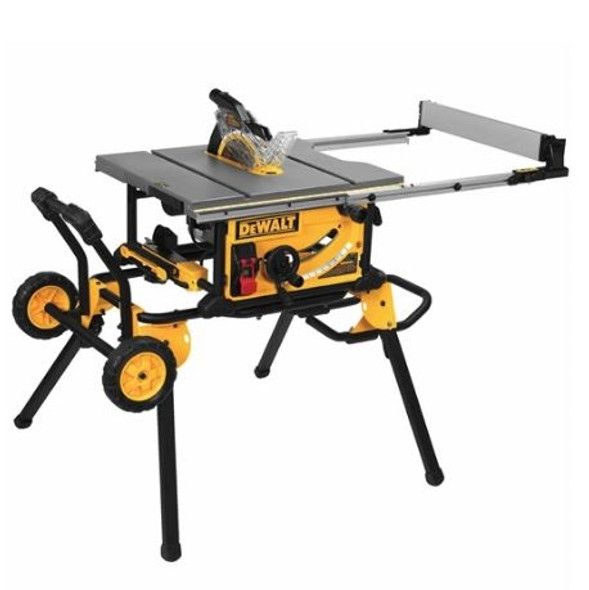 """Dewalt DWE7491RS 10"""" Job-Site Table Saw 32 - 1/2"""" Rip Capacity and a Rolling Stand"""