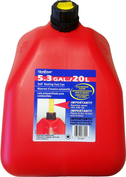 20 Litre 5 gallon Red Plastic Gas Can