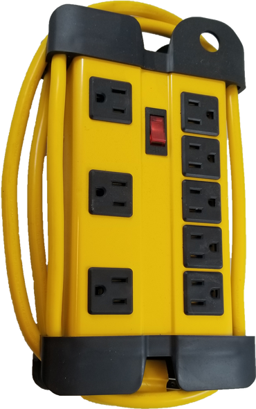 8-Outlet Power Bar w/ 6 ft Cord