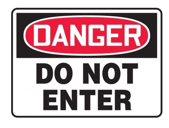 Accuform MADM139VP OSHA Danger Sign: Do Not Enter