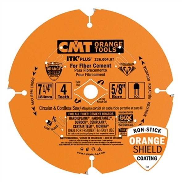 "CMT 236.006.10 Orange 10"" ITK Plus Diamond Saw Blade"