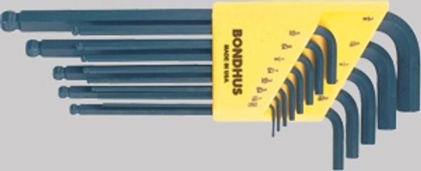 Bondhus 10995 Set of 15 Balldriver L-Wrenches, Sizes 1.27-10mm