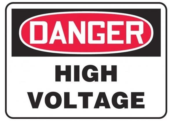 Accuform MELC114VP OSHA Danger Safety Sign: High Voltage