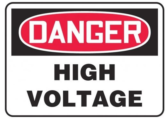 Danger Safety Sign: High Voltage