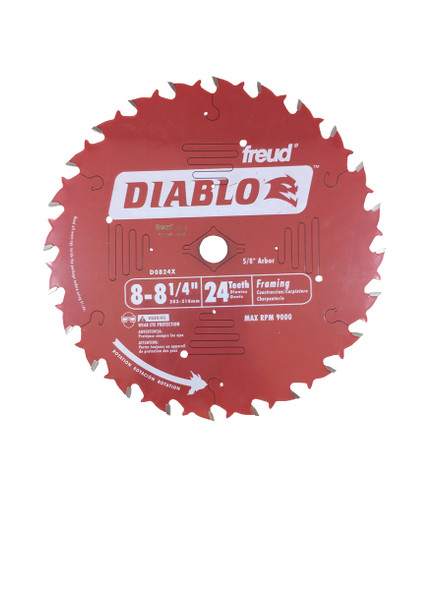 "Diablo 0824X 8 1/4"" - 24 Tooth Framing Saw Blade"