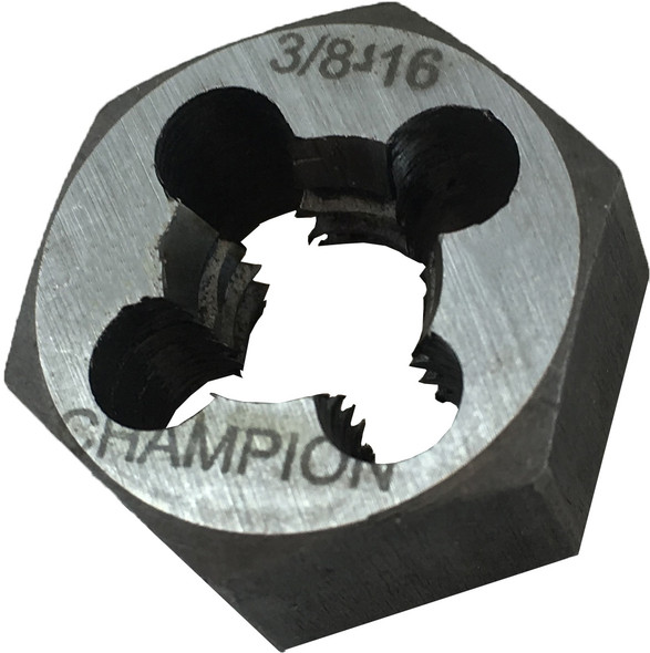 Champion Cutting 330-3/8 - 16 Hexagon Re threading Dies