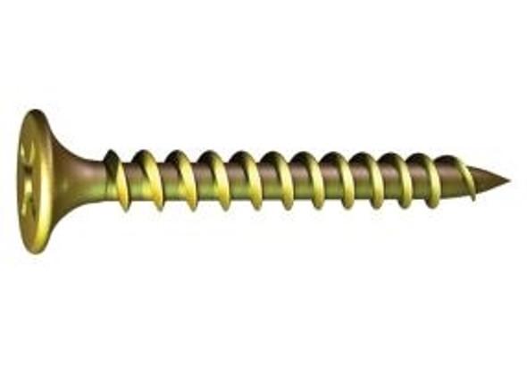 Grabber 1268YZ  #10 by 3-1/2 inch Bugle Head Streaker Screws Fine Yellow Zinc