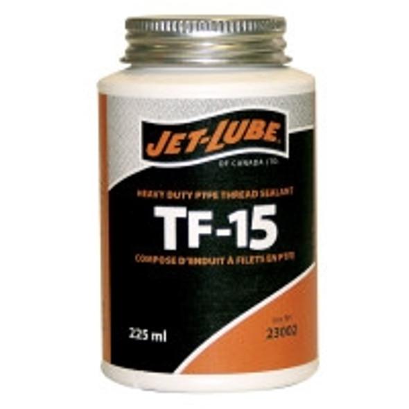 Jet-Lube 23002 TF-15 225ml Teflon Brush Top Thread Sealant