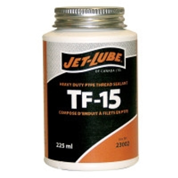 Jet-Lube 23002 TF-15 225ml Teflon Brush Top Thread Sealant